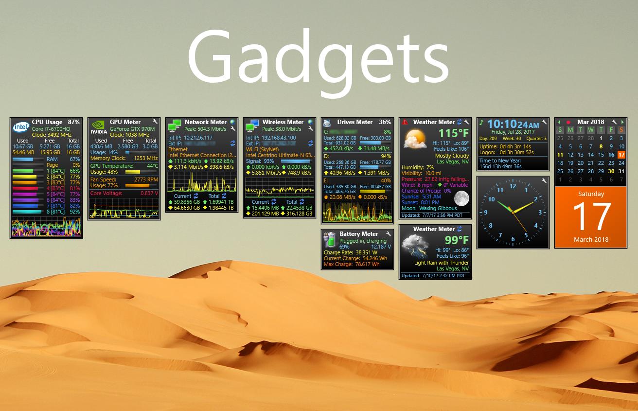 Gadgets 3.0.2 by SilverAzide