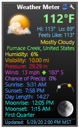Weather Meter for Yahoo - Gadgets Patch 5.4.0