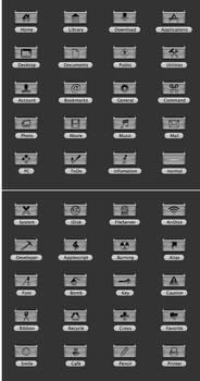 MAC drawer icons