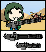(Walfas/Prop) SS1 XM214-A Minigun