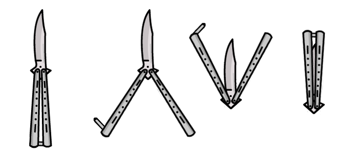 (Walfas/Prop) Edited Butterfly Knife