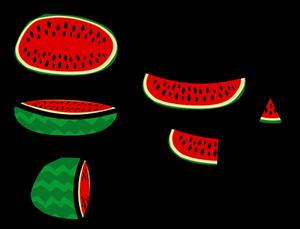 (Waflas/Prop) Sliced Watermelon