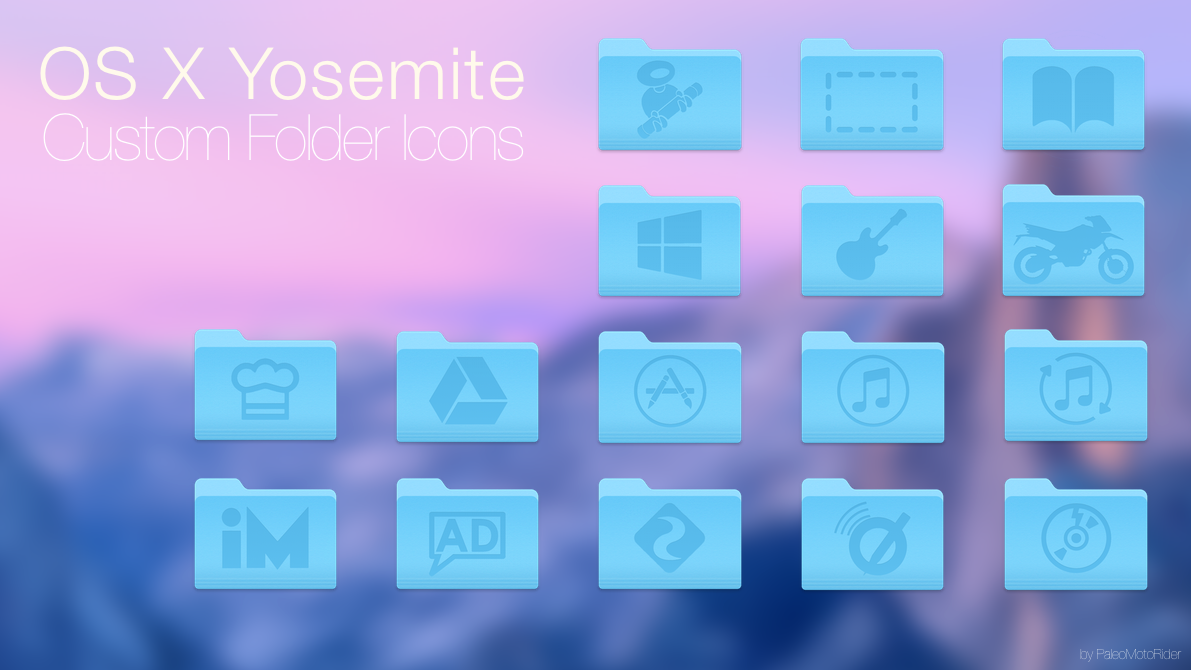 Yosemite custom icons from PMR