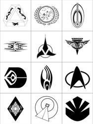 Star Trek Symbols by dridgett