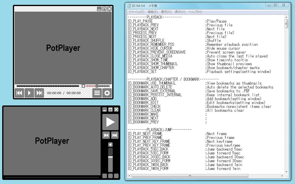 Sample and Concept for Potplayer by experiments4