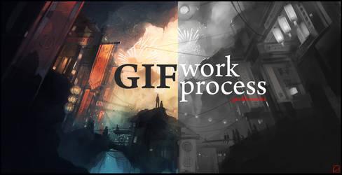 GIF animation fireworks