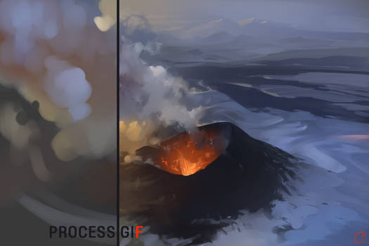 Volcano process gif