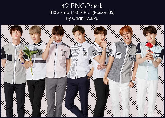 42 / BTS x Smart 2017 Pt.1 PNGPack by ChanHyukRu