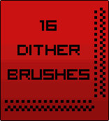 Photoshop Dither brushes