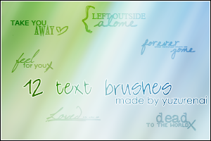 Text Brushes - Set 1 by negashiite