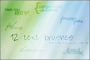 Text Brushes - Set 1 by negashiite