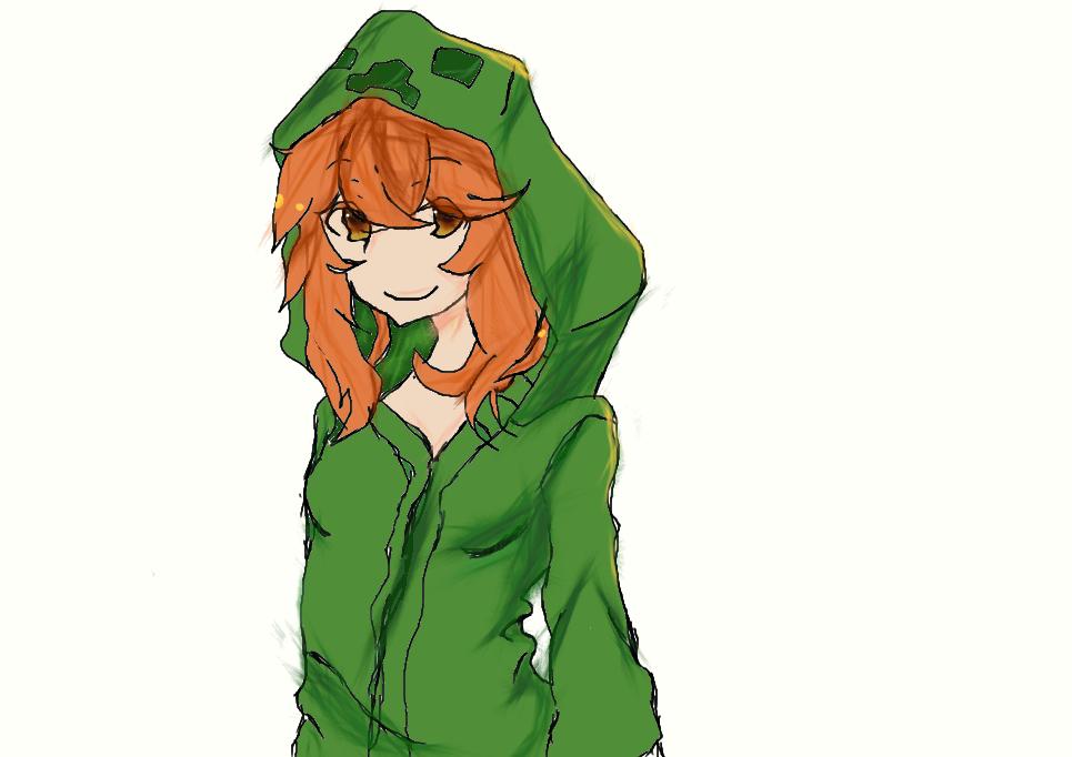 minecraft anime girls | Anime minecraft creeper With cats ...