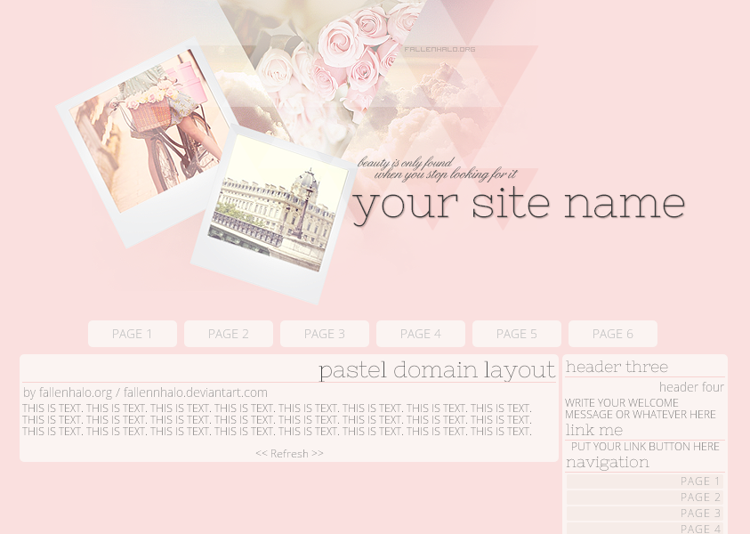 Pastel Domain Layout by FallennHalo