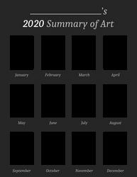 2020 Summary of Art Template (Blank)