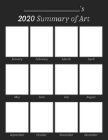 2020 Summary of Art Template (Blank)