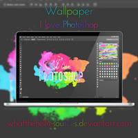 Wallpaper #8 - 'I Love Photoshop'