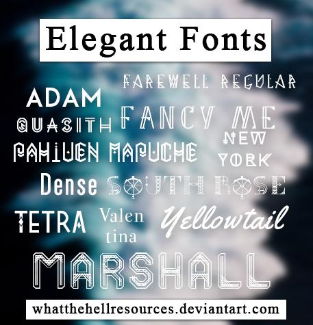 Elegant   FONTS   by WhatTheHellResources