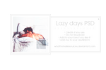 Lazy days | PSD