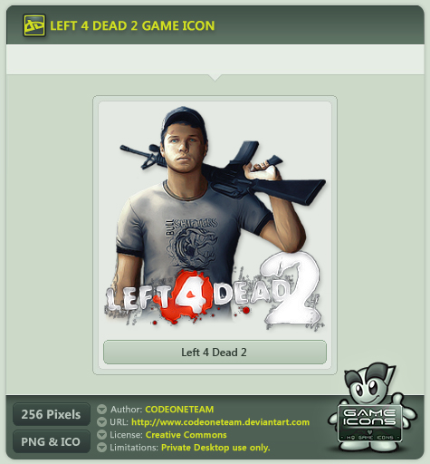 Left 4 Dead 2 Icon by CODEONETEAM on DeviantArt
