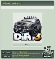 DiRT 3 Icon by CODEONETEAM