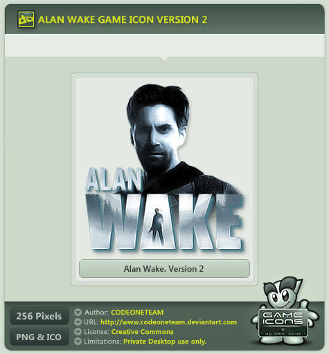 Alan Wake Icon v2 by CODEONETEAM