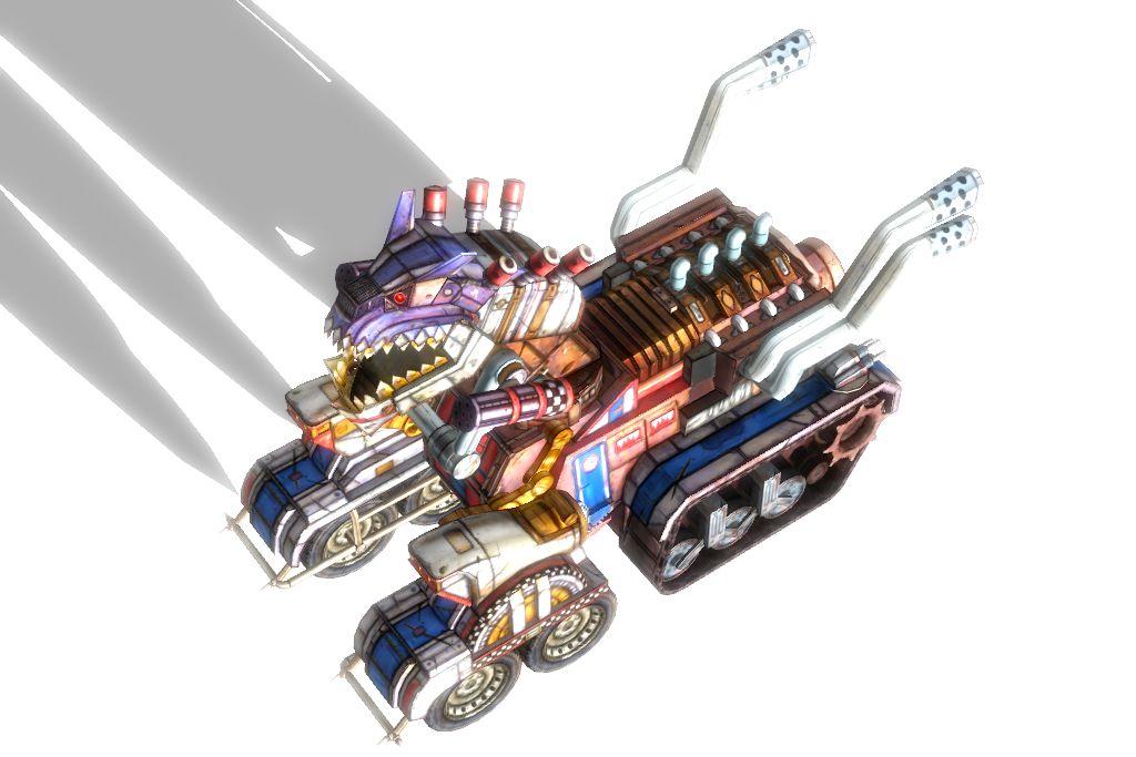 Borderlands 2 DLC 3' Truckasaurus fully poseable by lezisell