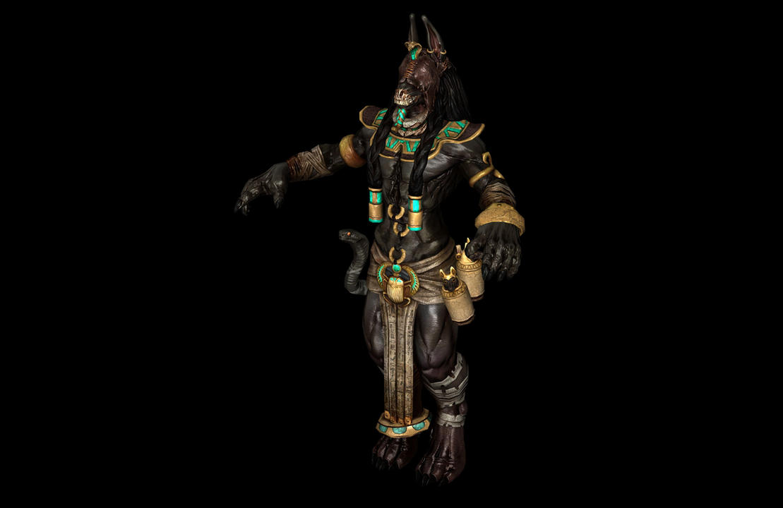 Anubis poseable by lezisell