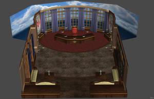 'God Eater 2: Rage Burst' Headmaster's Office XPS! by lezisell