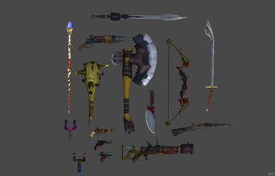 XNA_lara Weapons favourites by clee-cm on DeviantArt