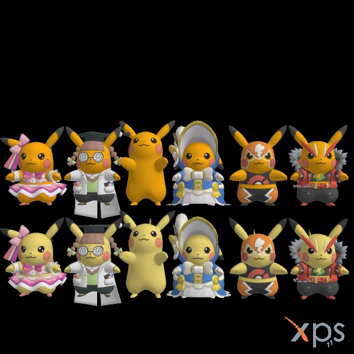Pikachu Outfits by Jetsetradioremixsega