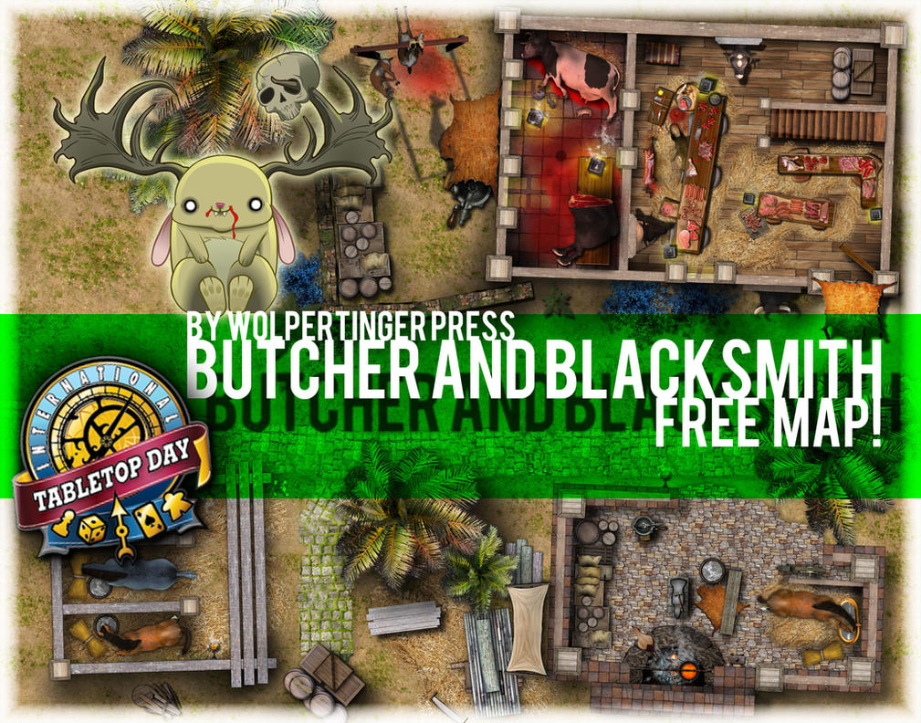 Butcher and Blacksmith Free Map Set! by ladnamedfelix