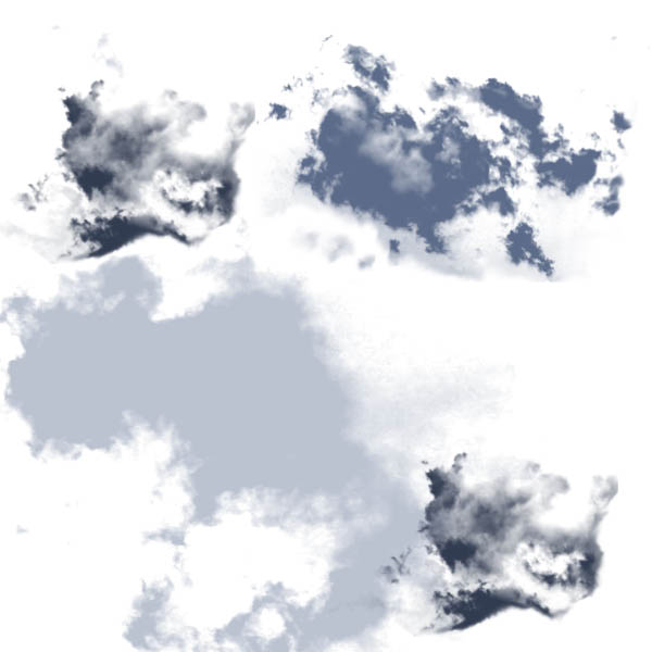 Cloud texture brushes