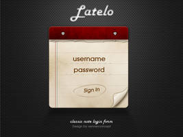 Latelo Classic Note Login Form by vennerconcept