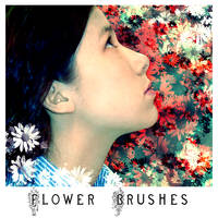 Flower Brushes by greenaleydis-stock