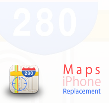Maps iPhone replacement icon