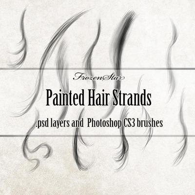 FS Painted Hair Strands by FrozenStarRo