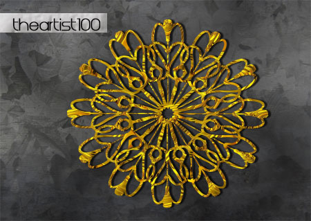 gold ornament png by TheArtist100