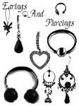 Earings and Piercing Brushes