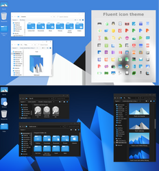 Fluent Icon Packs for Windows 10 Blue and Grey