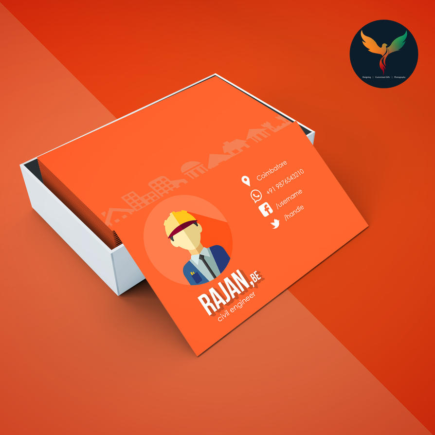 civil engineer premium business card template by phoenixprithivi