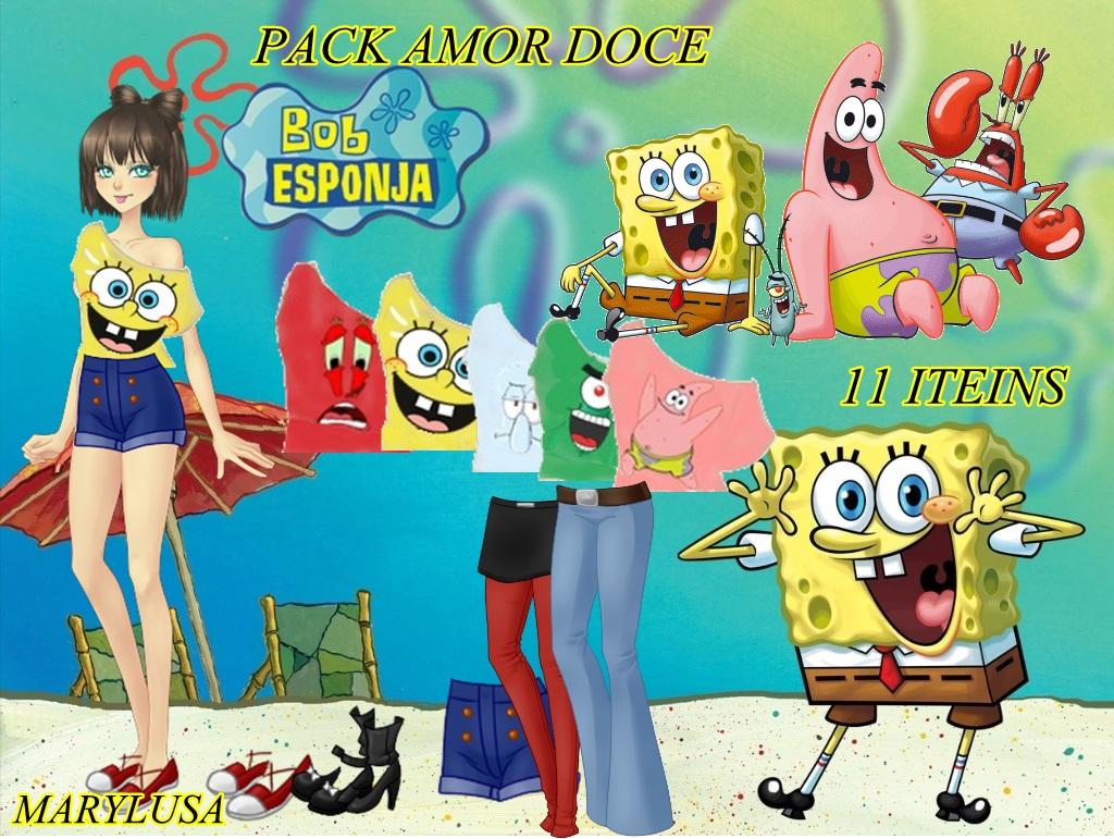 Pack amor doce Bob sponja by Marylusa18