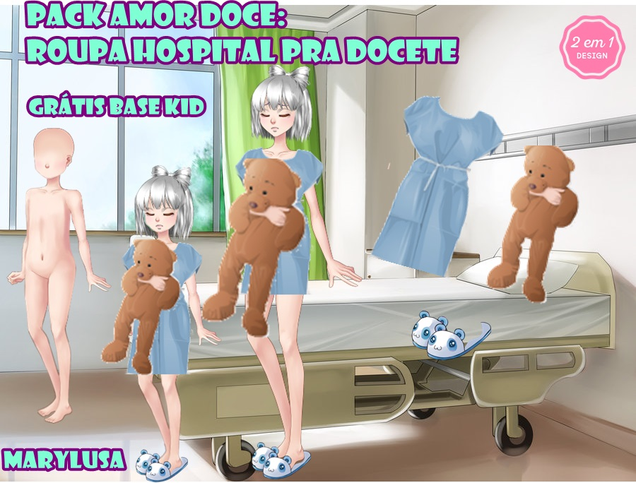 PACK AMOUR SUCRET roupa hospital by Marylusa18