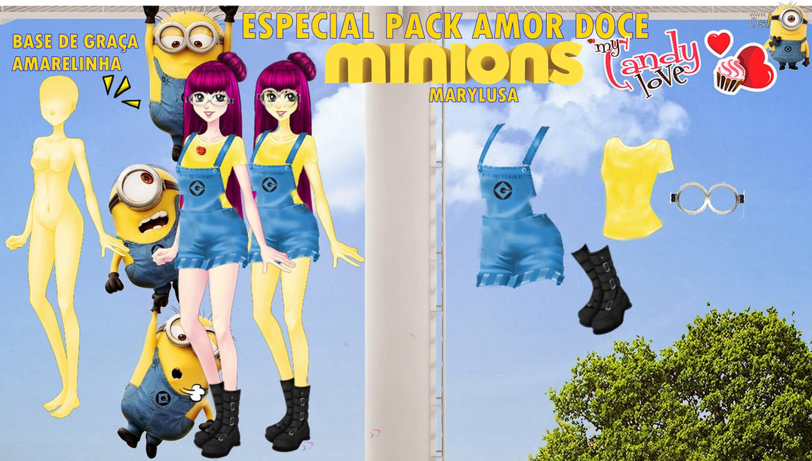 PACK AMOR DOCE MINIONS ESPECIAL PACOTE by Marylusa18