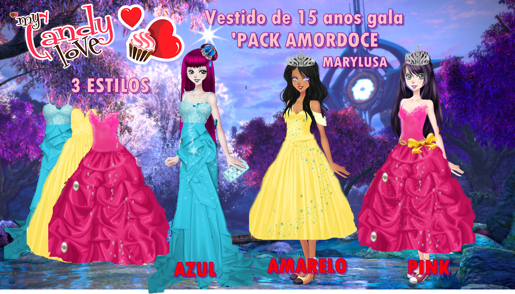 PACK AMOR DOCE :TRAJE DE 15 ANOS by Marylusa18