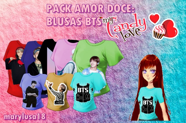 PACK AMOR DOCE: BLUSAS BTS by Marylusa18