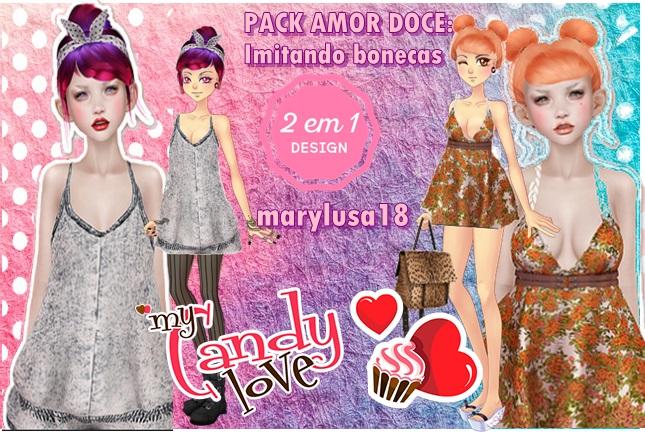 PACK AMORDOCE:Estiloso Imitando bonecas by Marylusa18