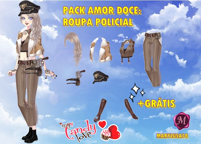 PACK AMOUR DULCE POLICIA by Marylusa18