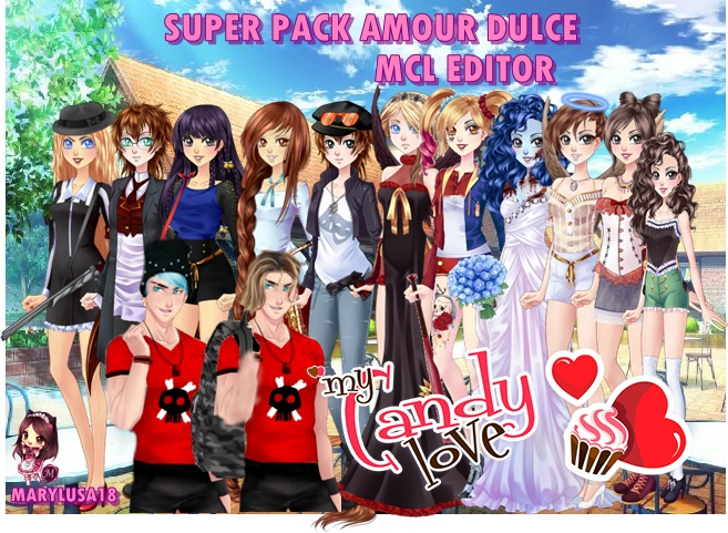 SUPER PACK AMOR DULCE: BASES MCL EDITOR by Marylusa18