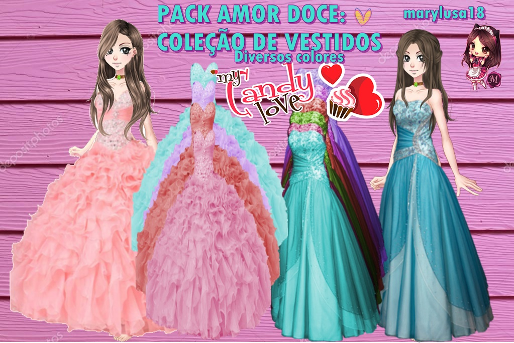PACK AMOR DOCE- VESTIDOS DIVERSOS by Marylusa18