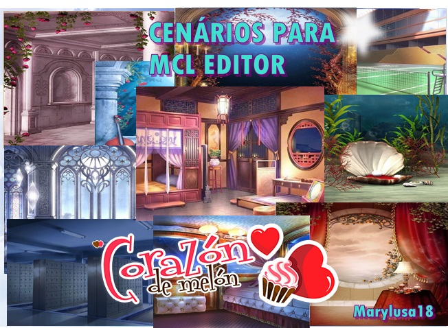 Enscenarios para MCL EDITOR amour dulce by Marylusa18